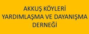 Ankara Akkuş Köyleri Derneğinden Açıklama