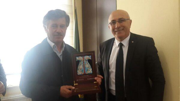 Ünye Denizbank'tan Ahmet KAYA'a Plaket