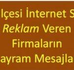 Sitemizde Reklamı Yayınlanan Firmaların 19 Mayıs Atatürk'ü Anma,  Gençlik ve Spor Bayramı Tebrik Mesajları
