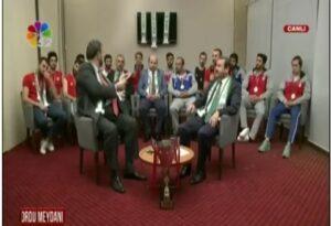 Canlı Yayında Başkan ve Voleybol Takımı Konuştular