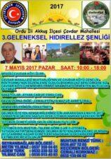 Çavdar Mahallesi Hıdırellez Şenliği 7 Mayıs'ta Başlıyor