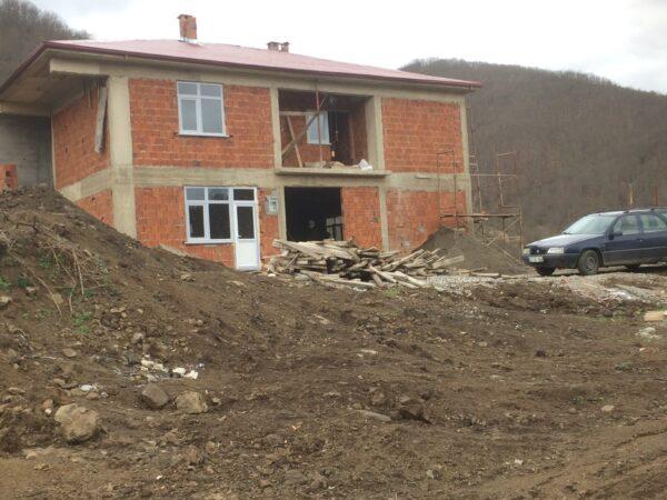 Çukurköy Cingili Aş evi  ve Lojmanının Sıvası Yapılıyor