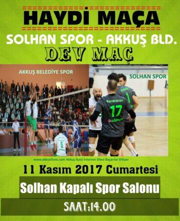Akkuş Spor Bingöl Solhan Deplasmanında Maç 14.00 de