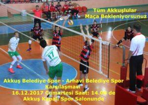 Akkuş Spor Maçı Cumartesi 14.00 Akkuş'ta