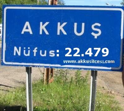 Akkuş İlçe Nüfusu 22.479 Kişi Diğer İlçe Nüfusları Kaç Kişi?