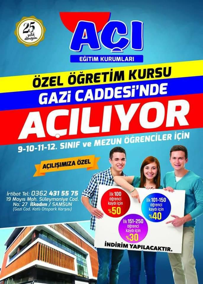 Akkuşlu Hemşehrimiz Samsun'da Açı Özel Eğitim Kursunun Kurucuları Arasında Yer Alarak İş Hayatına Başladı. Başarılar Diliyoruz.