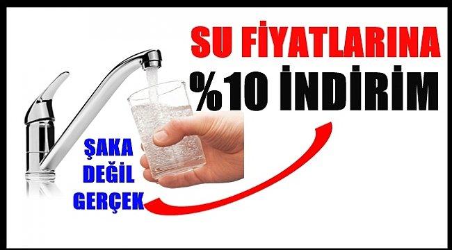 Ordu İlinde su fiyatlarında %10 indirim yapıldı