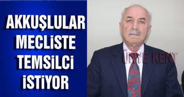 Ünye'de yaşayan Akkuşlu vatandaşlar, Ünye ilçesinde yaşayan Akkuşlu nüfusunun göz önünde bulundurulmasını ve belediye meclisinde temsil edilmeyi istiyorlar.
