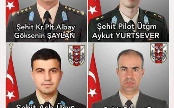 İstanbul Çekmeköy'de zorunlu iniş yaparken düşen Askeri Helikopter kazasında Şehitlerimizin kimlikleri belli oldu.