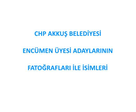 CHP Akkuş Belediyesi Encümen Üyesi Adaylarının Fotoğraflar İle İsimleri