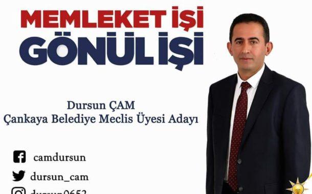 Akkuşlu Hemşehrimiz Dursun ÇAM; Ankara Çankaya Belediyesi Encümen Üyeliğine Ak Partiden 2. Sıra Aday Olarak Gösterildi