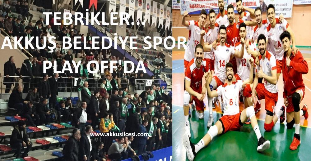 PLAY-OFF'DA Mücadele Edecek Olan Akkuş Belediye Sporun Rakipleri Belli Oldu