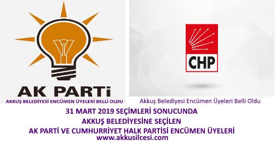 Akkuş Belediyesinin Ak Partili ve Cumhuriyet Halk Partili 15 Belediye Encümen Üyeleri Belli Oldu