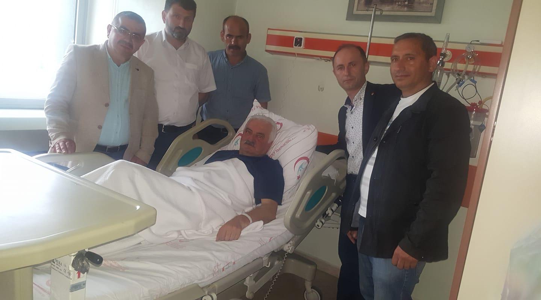 Akkuş Dernekler Federasyonu; Hastanede Tedavi Görev Osman PATOĞLU'nu Ziyaret Etti