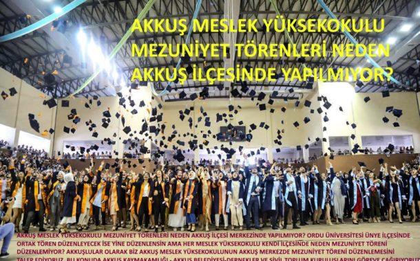 Akkuş halkından Ordu Üniversitesine tepki..
