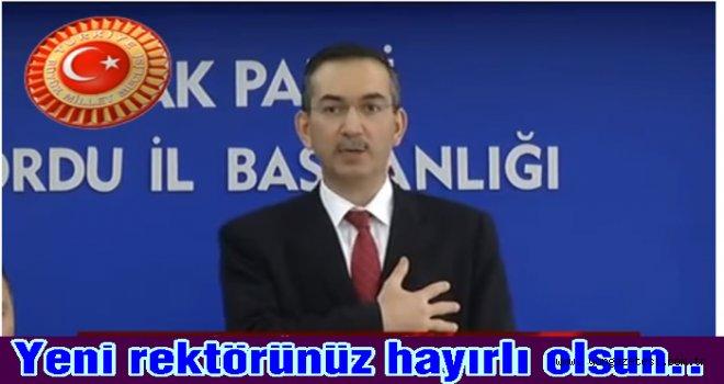 Ordu Üniversitesine Yeni Rektör Atandı. Prof. Dr. Ali Akdoğan,