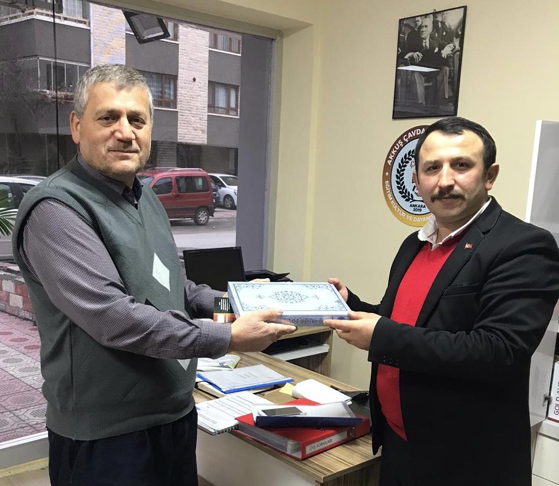 Çavdarköy Derneğinde Kurulacak Olan Kütüphaneye En Büyük ve En Değerli  Kitabı Hediye Ettik