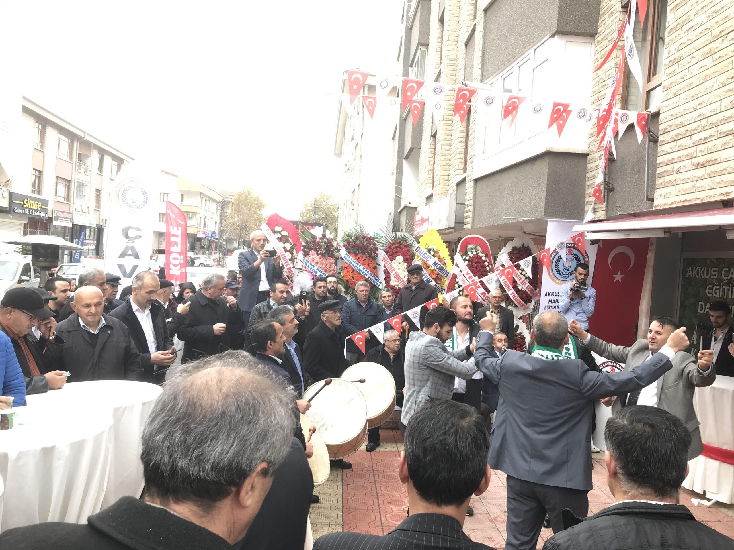 Çavdarköy Derneği Muhteşem Bir Tören İle Ankara'da Açıldı. Davullu-Zurnalı Açılışa Katılım Çok Yoğun Oldu.