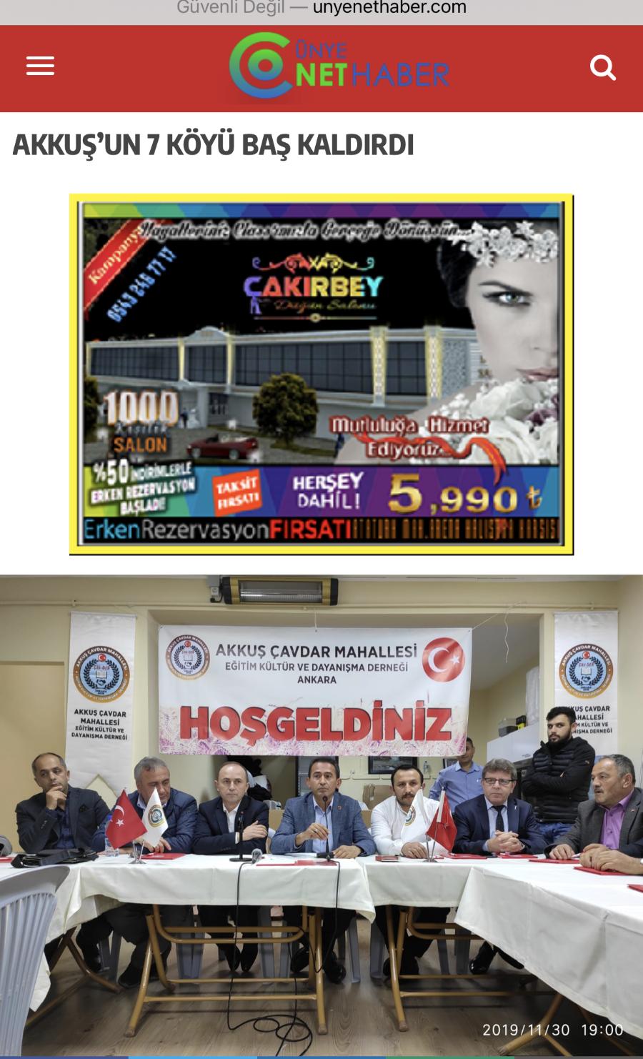 Akkuş-Çukurköy-Ceyhanlı Grup Yolunun Asfaltlanması İçin Yaptığımız Haber Ordu Basınında Yer Aldı.