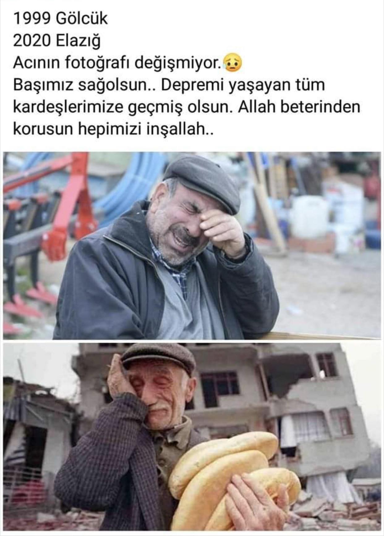 Elazığ Sivrice'de 6.8 Büyüklüğünde Deprem Oldu. Her Depremden Sonra Acının Fotoğrafı Değişmiyor.