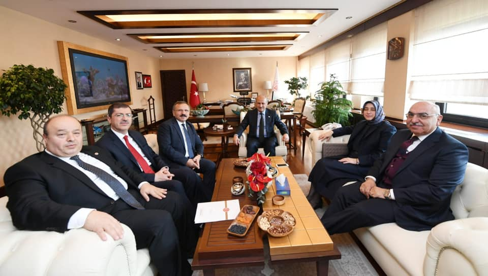 Ordu-Tokat Milletvekilleri Ünye-Akkuş-Niksar Yolunun Yapımı Konusunu Ulaştırma ve Altyapı Bakanı Mehmet Cahit TURHAN ile Görüştüler
