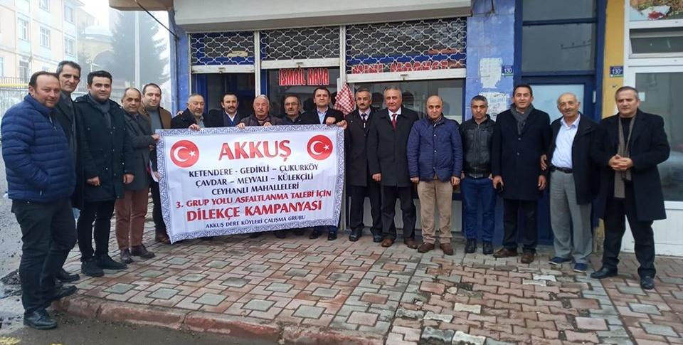 Akkuş-Çukurköy-Ceyhanlı Grup Yolunun Asfaltlanması İçin Ankara'da Oluşturulan Çalışma Grubu Akkuş İlçesine Giderek Belediye Başkanı- Sivil Toplum Kuruluşları- Esnaflar ve Halk ile Görüşerek Yollarının Neden Asfaltlanması Gerektiğini Anlattılar