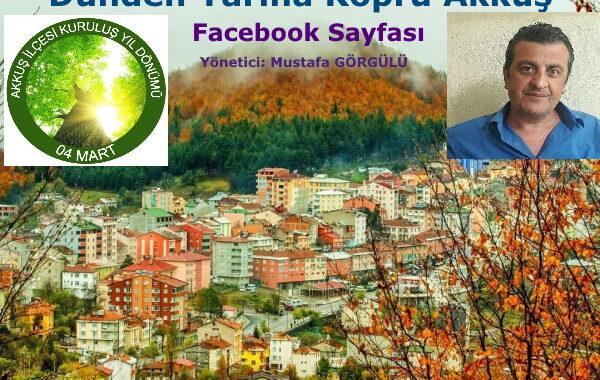 Canlı Yayın Dünden Yarına Köprü Akkuş Facebook Sayfası Yönetici ve Akkuş Eski Belediye Başkanlarından Ekrem GÖRGÜLÜ'nün Oğlu Mustafa GÖRGÜLÜ'nün Akkuş İlçesinin 67. Kuruluş Yıl Dönümü Tebrik Mesajı
