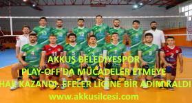 Akkuş Belediyespor Voleybol Takımı; 1. Ligde Play - Off'a kaldı. Efeler Ligine Bir Adım Kaldı